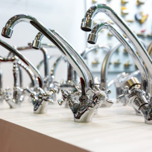 stainless steel kitchen water faucets with dual handle