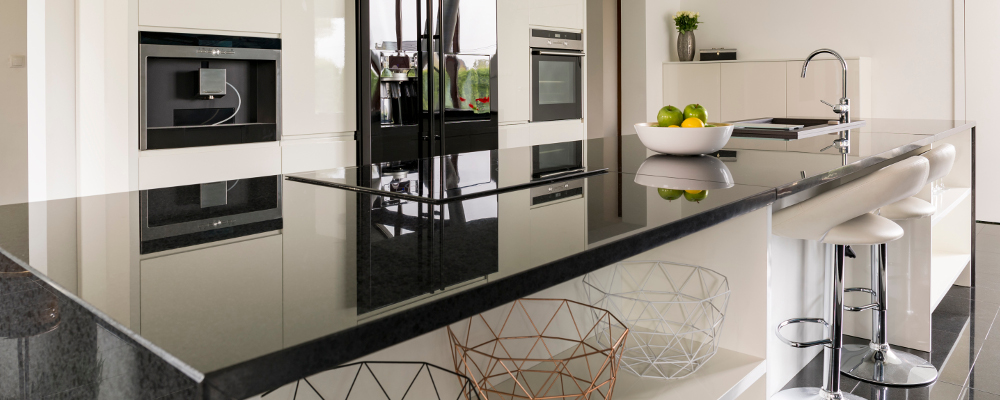 Modern and Elegant Kitchen with Black Marble