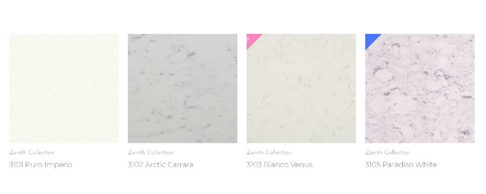 Quartz colours and designs