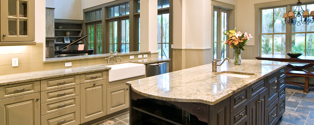 Quartz countertop for kitchen