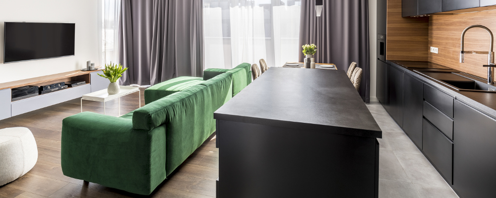 Leathered surface countertop trend