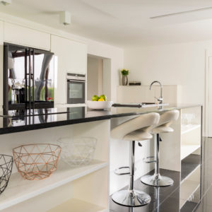 Modern minimalist kitchen design with contemporary decor