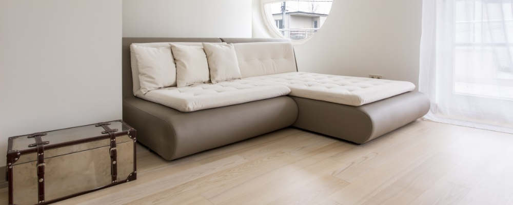 Multipurpose sofa bed in white and neutral colour