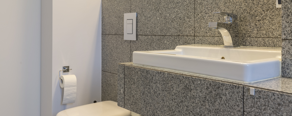 Popular granite tile bathroom countertop