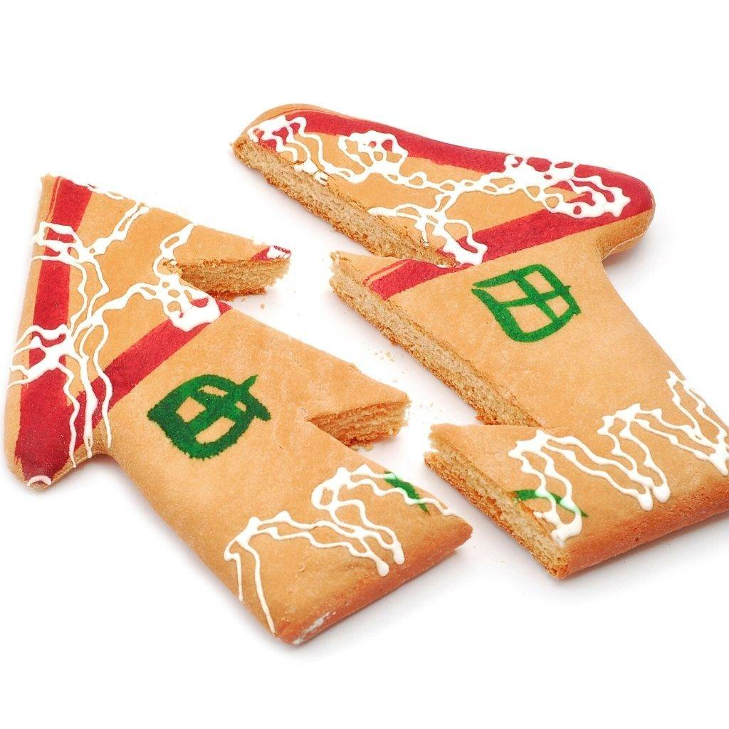 Broken gingerbread with home design