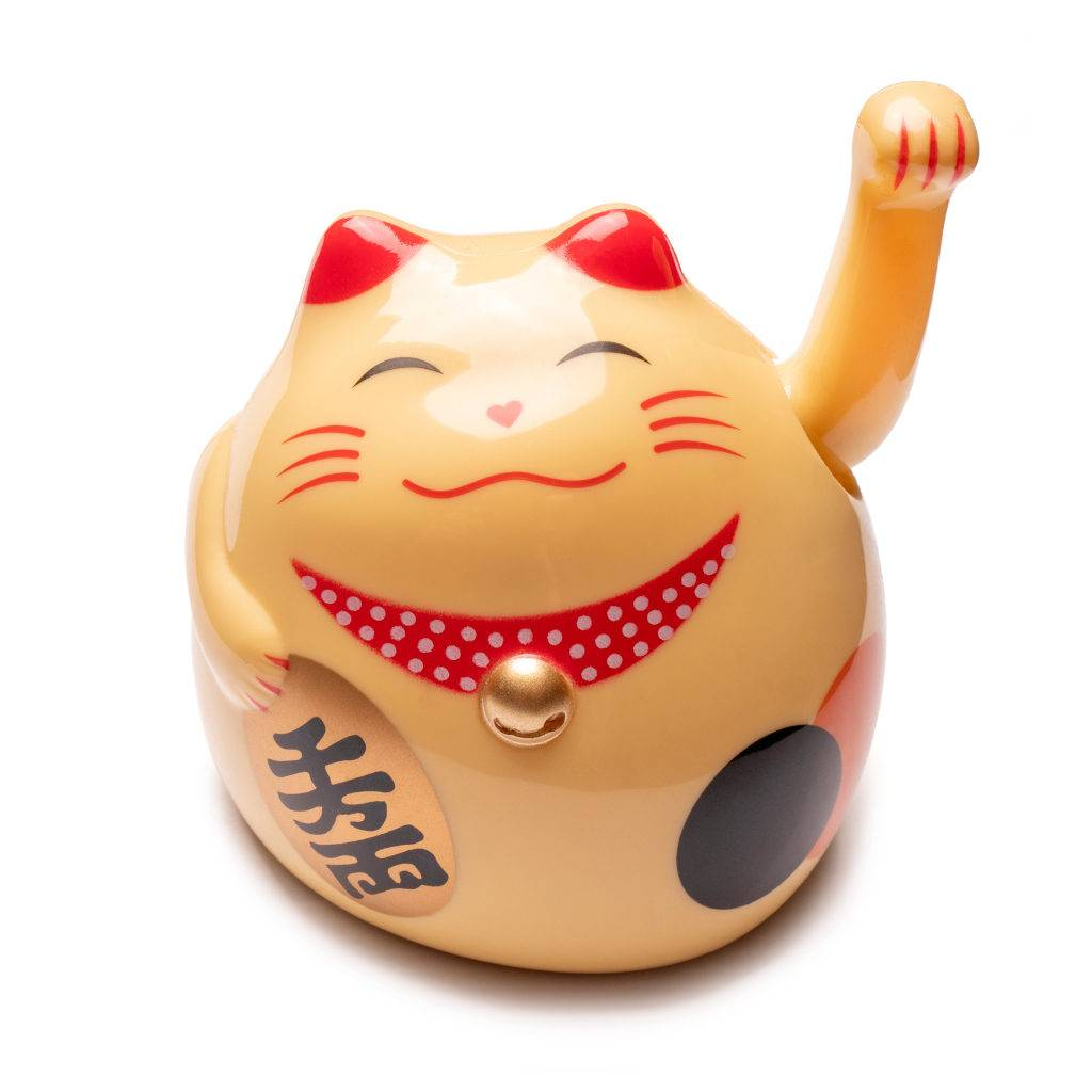 Japanese Lucky Cat in Gold