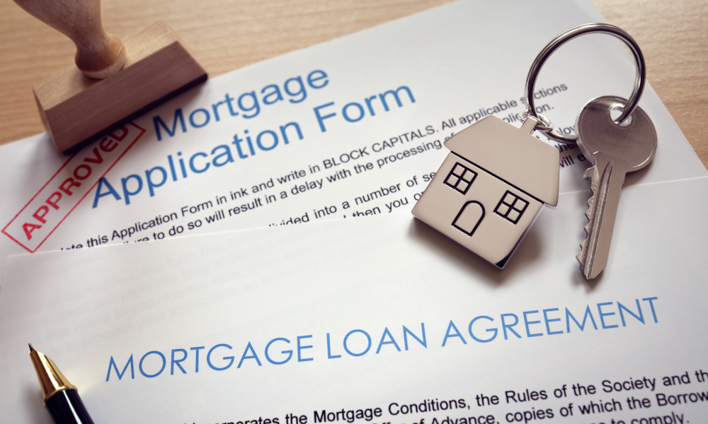 First time house buyer mortgage loan agreement