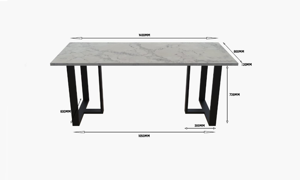 Customised quartz dining table from Unix Singapore