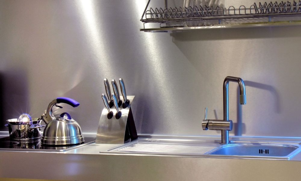 Clean and Sterile Stainless Steel Kitchen